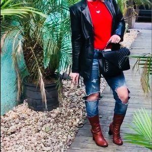 Zara Jeans - Zara trafaluc boyfriend ripped high waist jeans